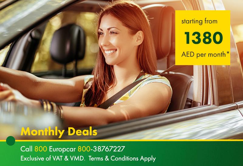 Europcar Dubai Monthly Car Rentals In Dubai